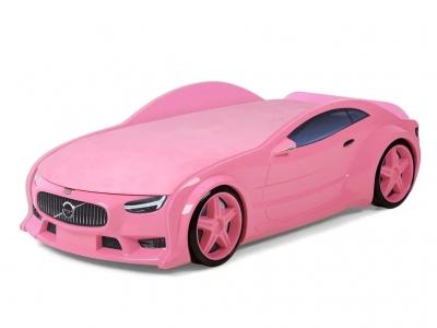 Кровать-машина Neo Вольво розовая