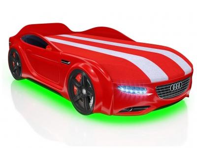 Кровать-машинка Romack Junior А7 красная