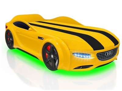 Кровать-машинка Romack Junior А7 желтая