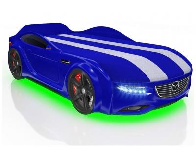 Кровать-машинка Romack Junior Cx5 синяя