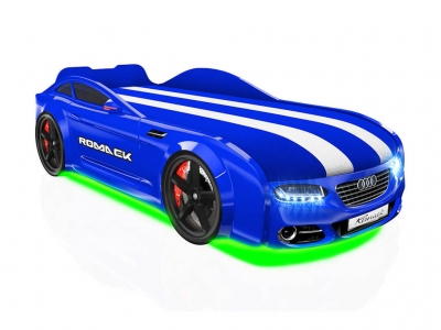 Кровать-машинка Romack Real-M А7 синяя