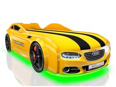 Кровать-машинка Romack Real-M А7 желтая