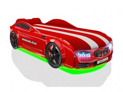 Кровать-машинка Romack Real-M X5 красная