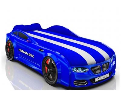 Кровать-машинка Romack Real-M X5 синяя