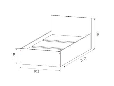 Кровать одинарная 900 Эдем 5 900х700х2032