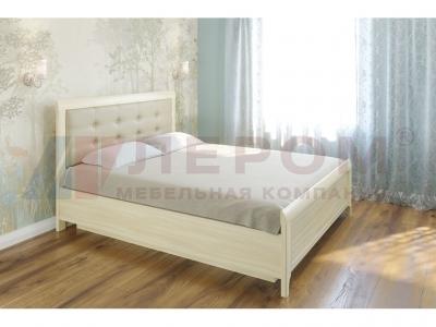 Кровать с мягким изголовьем КР-1033 1600х2000 Ясень Асахи