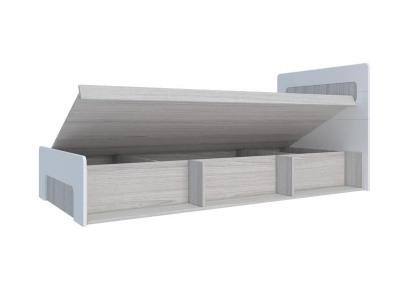 Кровать с подъемным механизмом Палермо-3 Юниор белый глянец 960х900х2048 мм