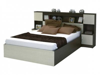 Кровать с прикроватным блоком КР 552 Бася венге-дуб