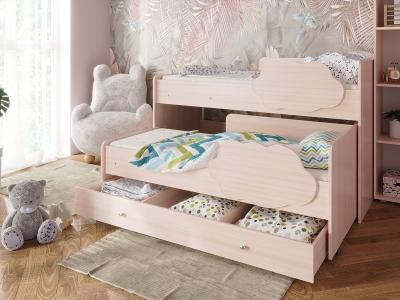 Кровать Соник с ящиком дуб млечный