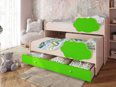 Кровать Соник с ящиком лайм
