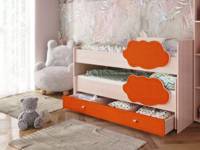 Кровать Соник с ящиком оранж