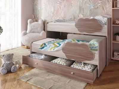Кровать Соник с ящиком ясень шимо