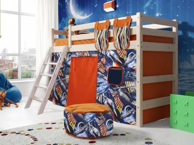 Кровать Соня с наклонной лестницей No 6