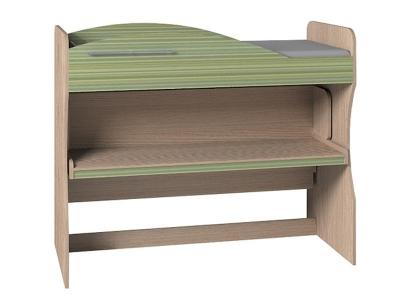 Кровать-трансформер 2 двухъярусная Калейдоскоп Зеленая радуга