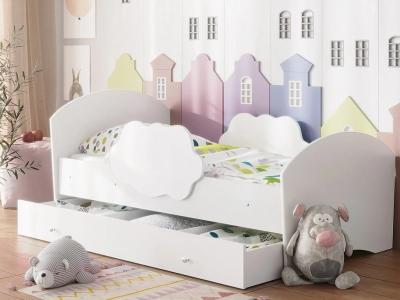 Кровать Тучка с ящиком белый