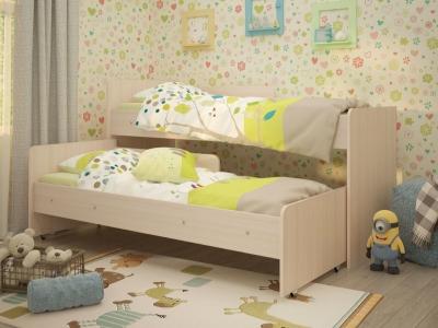 Кровать выкатная Матрешка 80х190 дуб