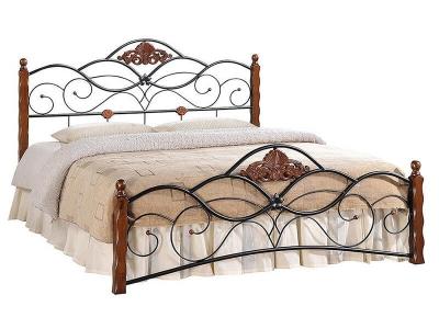 Кровать Canzona 160х200 Чёрный - Красный Дуб