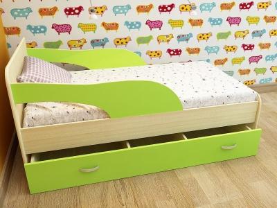 Кровать детская Кроха 2 дуб-зеленый