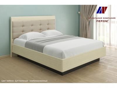 Кровать КР-1853 1600х2000 Дуб Беленый - комбинированный