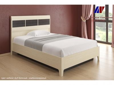 Кровать КР-1862 1400х2000 Дуб Беленый - комбинированный