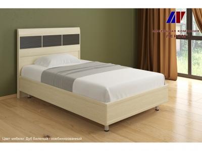 Кровать КР-2701 1200х2000 Дуб Беленый - комбинированный