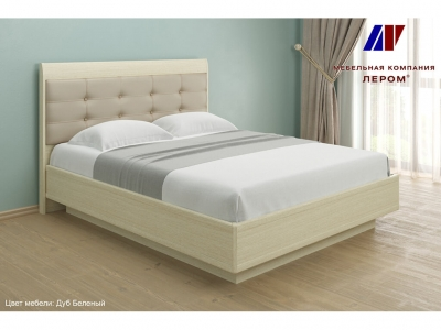 Кровать с мягким изголовьем КР-1053 1600х2000 Дуб Беленый