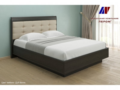 Кровать с мягким изголовьем КР-1053 1600х2000 Дуб Венге