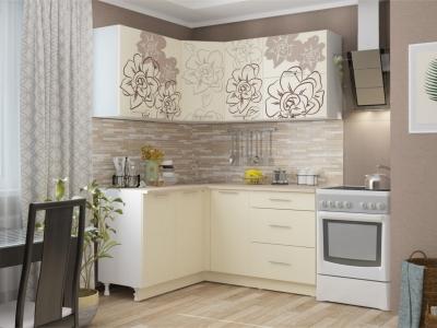 Кухня угловая Бордо Ваниль