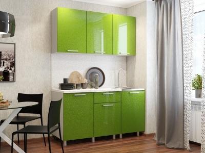 Кухонный гарнитур блестки Олива 1500