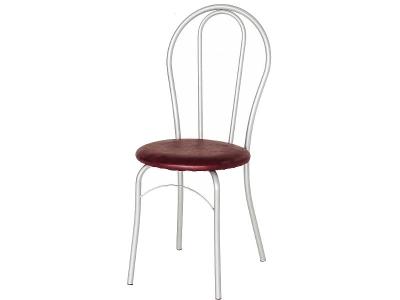 Кухонный стул Элегия серебристый металлик-коричневый