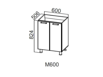 Кухня Геометрия Стол-рабочий 600 под мойку М600 824х600х506-600мм