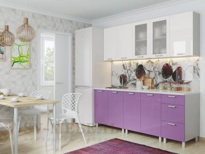 Кухня Модерн Фиолетовый Металлик - Белый