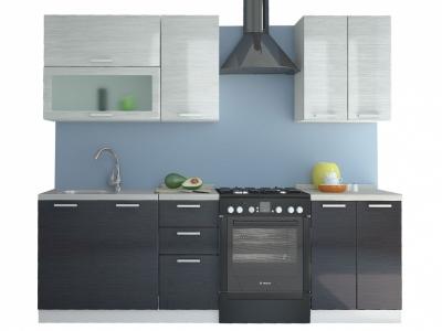 Кухня Равенна Стайл 1,8 м №2 (60/40) титан белый/титан черный