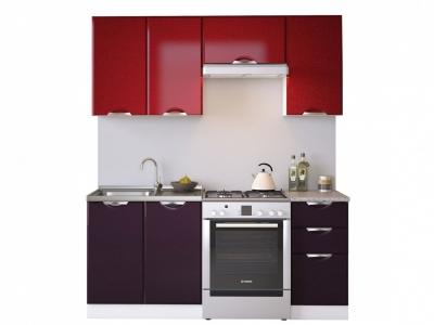 Кухня Равенна Вива 1,8 №1 м бордо/фиолет