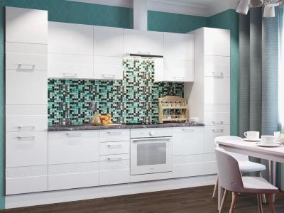 Кухня Люкс белый глянец
