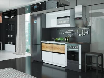 Кухонный гарнитур Фэнтези Белый универс, Вуд 1,2м