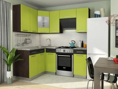 Кухонный гарнитур Алиса 11 угловой Лайм