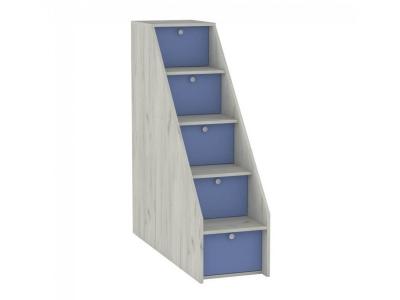 Лестница ступеньками Тетрис 308 368х1158х1229 Капри Синий