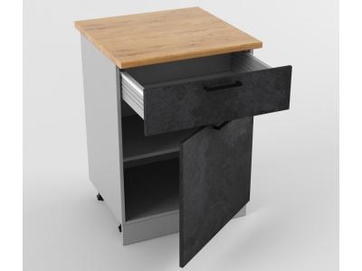 Напольный шкаф Н 600 1 ящик 1 дверь 850х600х600 Лофт