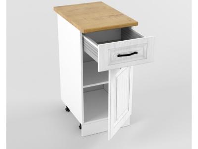 Нижний шкаф Н 400 1 ящик 1 дверь 850х400х600 Белый Вегас