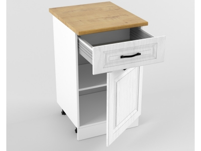 Нижний шкаф Н 500 1 ящик 1 дверь 850х500х600 Белый Вегас