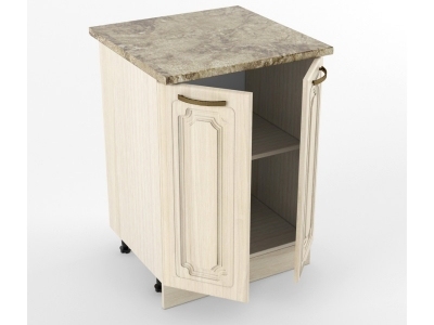 Нижний шкаф Н 600 2 двери 850х600х600 Грецкий орех