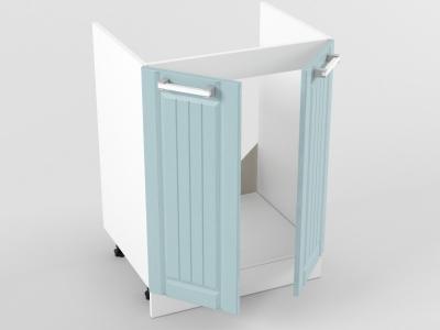 Нижний шкаф Н 600 мойка 2 двери 822х600х473 Прованс Роялвуд голубой
