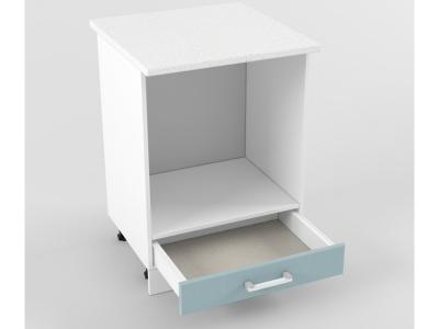 Нижний шкаф Н 600 плита 850х600х600 Прованс Роялвуд голубой