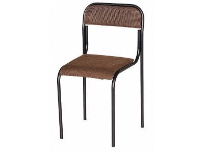 Офисный стул Аскона черный - обивка коричневая