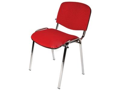 Офисный стул Изо хром ткань красная