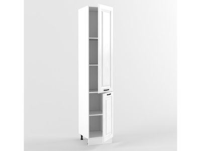 Пенал 2 двери 2140х400х556 Белый Вегас