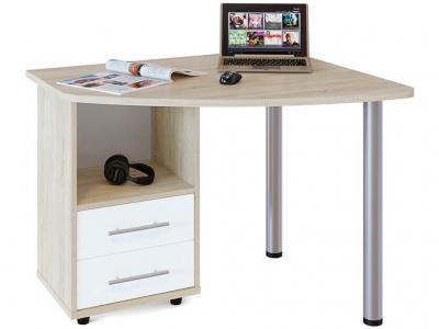 Письменный стол Сокол КСТ-102 левый Дуб Сонома/Белый