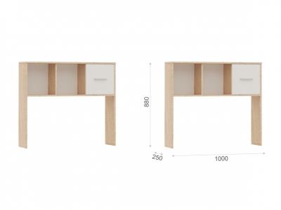 Полка-надставка Стелс 100 Дуб сонома/белый