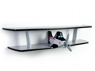 Полка Самолетик Дасти двухъярусная черная
